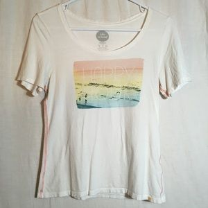 Happy Hour Soft Fitted Tee Tropical Beach Vibes